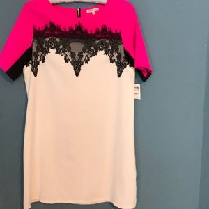 Charlotte Russe Dress with white, pink with lace